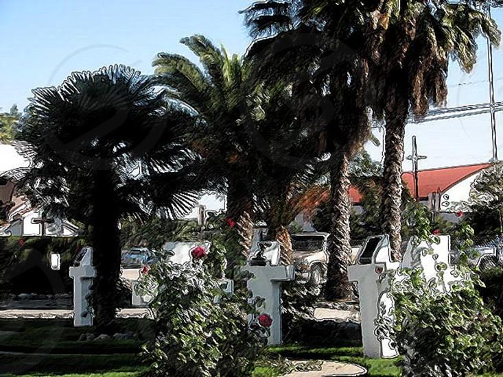 Church grounds California photo