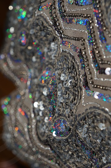 gray sequined textile photo