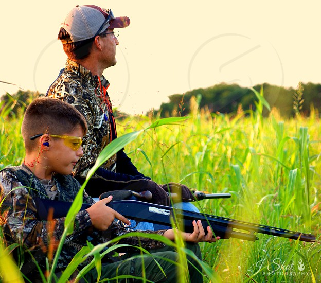 Father and son hunting trip photo