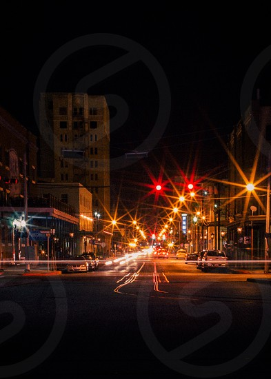 city scape cityscape night long exposure flare traffic color photo