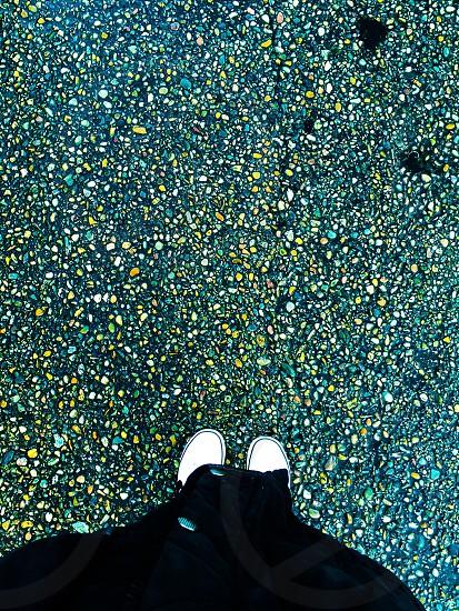 Green stones pebles photo