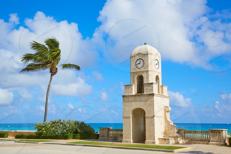 Palm Beach Worth Avenue clock tower Florida USA photo