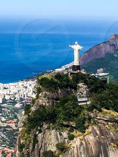 Rio De Janeiro Brazil Helicopter Landscape Nature Christ The Redeemer  photo