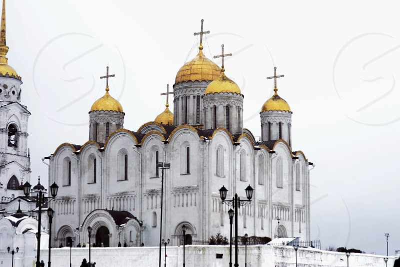 Russian Russia cathedral church ancient orthodox building architecture photo