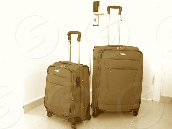 two luggage bag photo