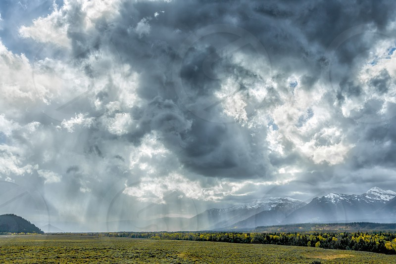 Stormy Weather in the Grand Tetons National Park photo