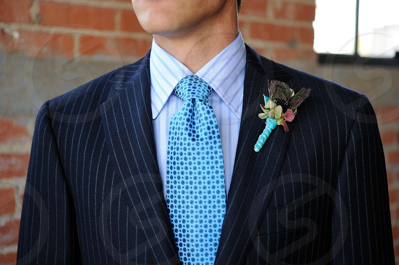 Suit tie and bout photo