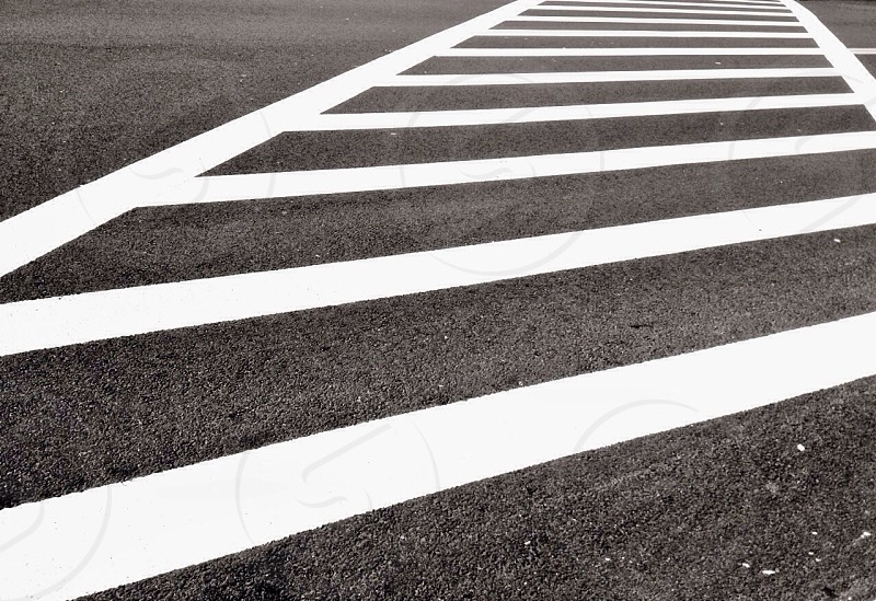 white painted pedestrian line photo