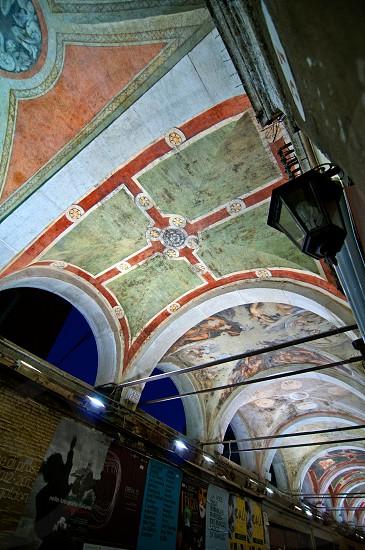 Venice Italy Rialto arch ceiling fresco dettails  photo