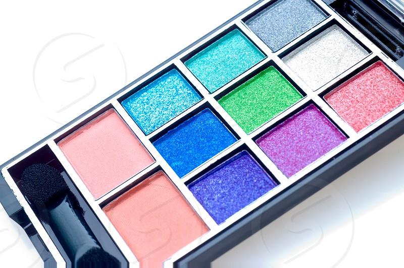 colorfull make up palette square shade set photo