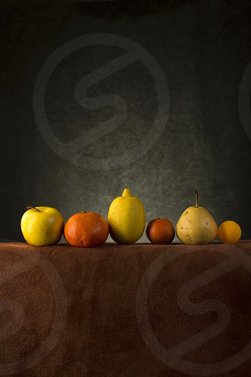 Still life with fruit on the table photo
