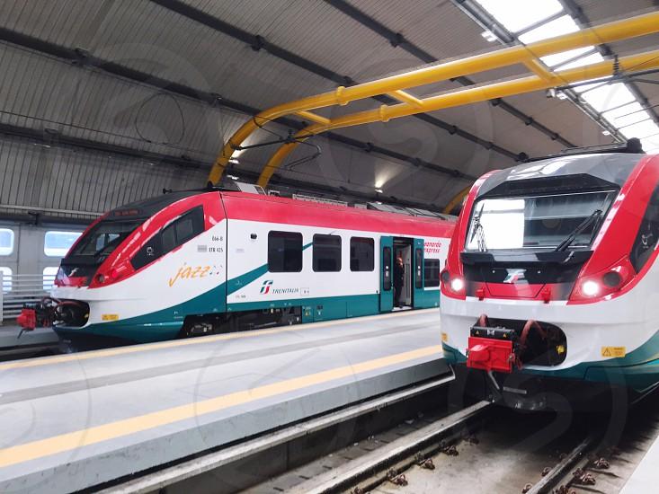 Railway train track photo