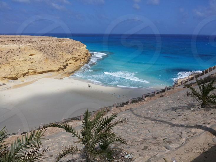 Egypt blue sea beach  photo