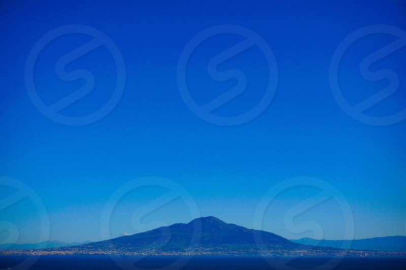 Mount Vesuvius Naples bay from Sorrento photo