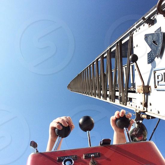crane crontrol lever photo