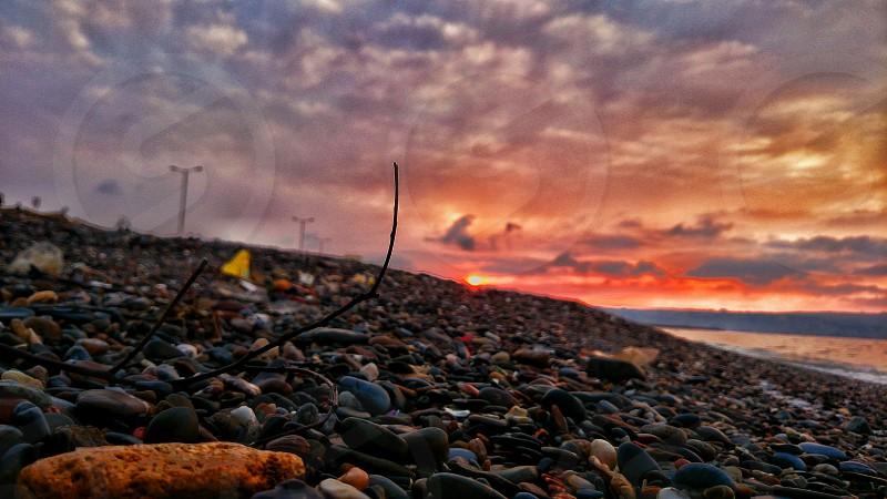 coucher de soleil photo