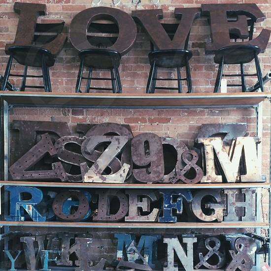 love decoration metal letters photo