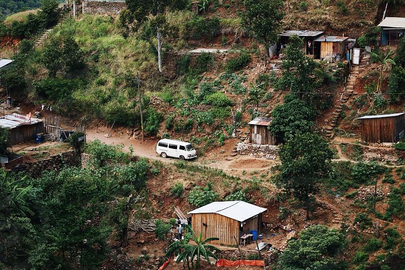 Honduran neighborhood in the hills photo