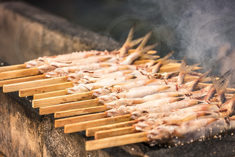 Grilled fis after Hunting photo