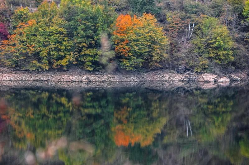 Lake - Gura Raului village area Sibiu county Transylvania Romania photo