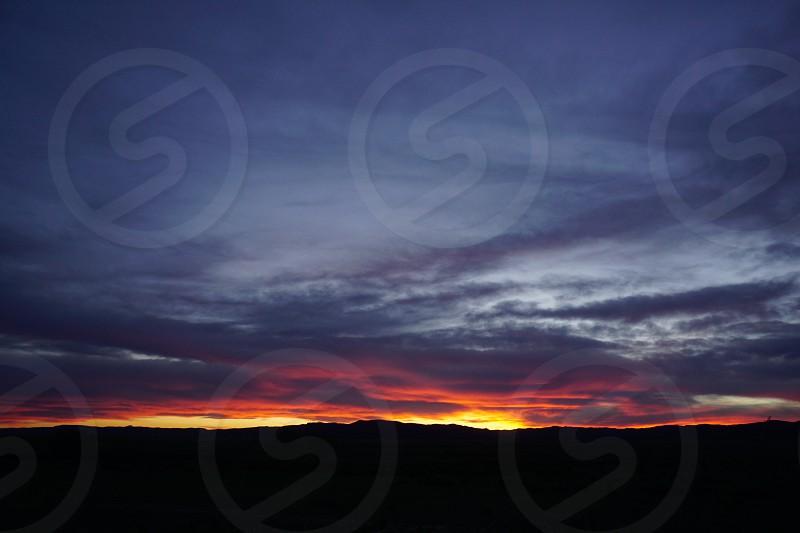 Colorado sunset landscape  photo