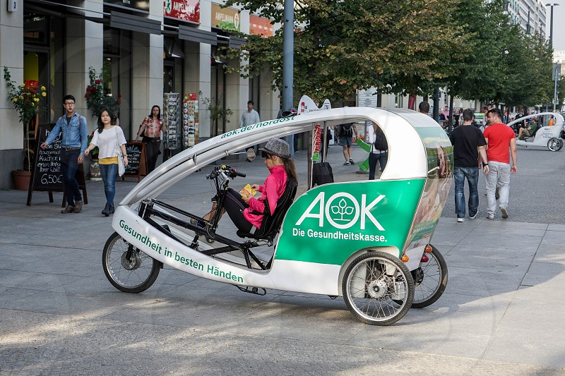 Bicycle rickshaw in Berlin photo