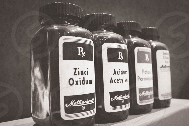 Old medicine bottles photo