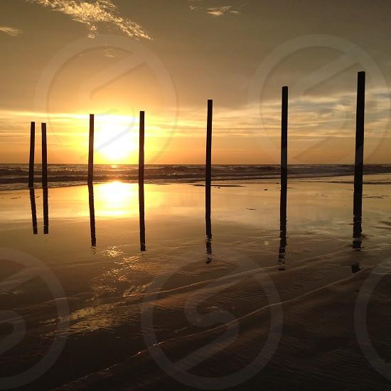 Sunrise Ormond Beach Florida. Beach ocean.  photo