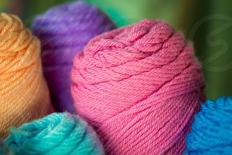 Textiles yarn colors photo