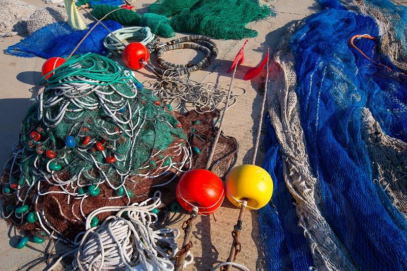 Formentera Balearic Islands fishing tackle nets longliner trawler trammel photo