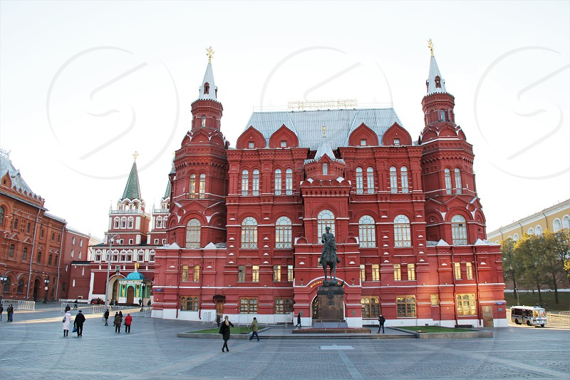 State Historical Museum. Moscow Russia.  Autumn 2017 photo