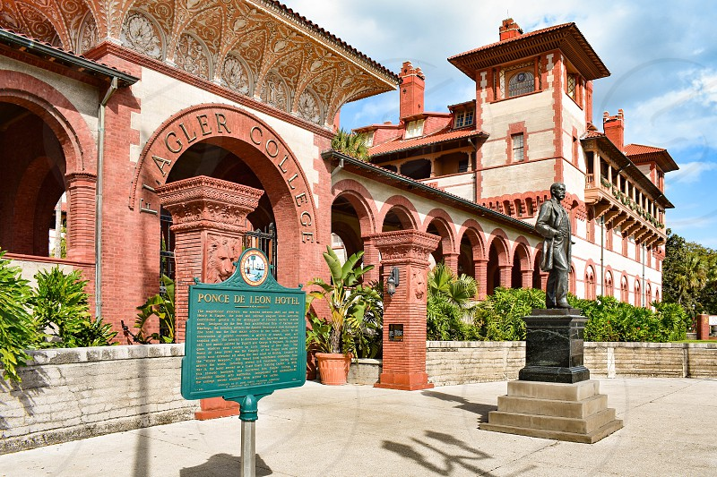 St. Augustine Florida. January 26  2019. Henry Flager College at Old Town in Florida's Historic Coast. photo
