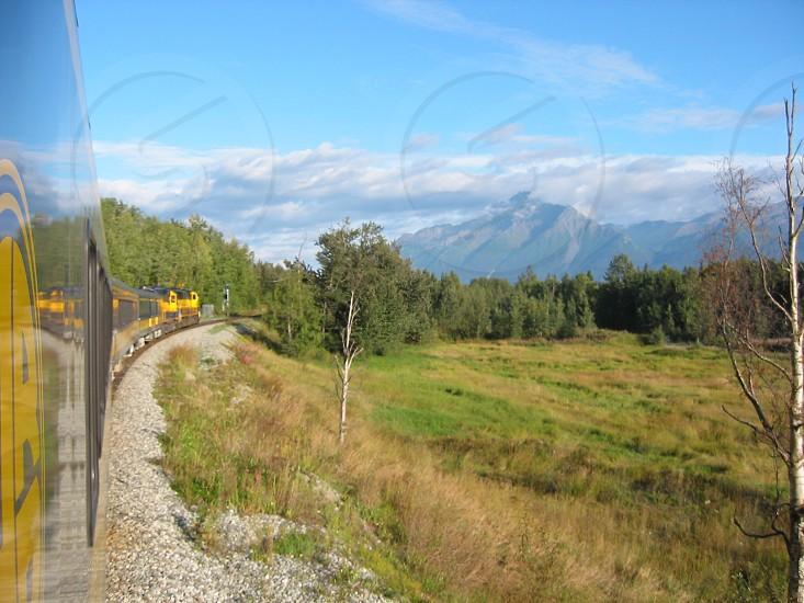 Alaska Railroad Alaska train mountains summer photo
