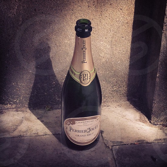 Champagne in the street. photo