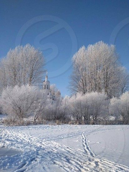 winter in the outskirts of minsk photo