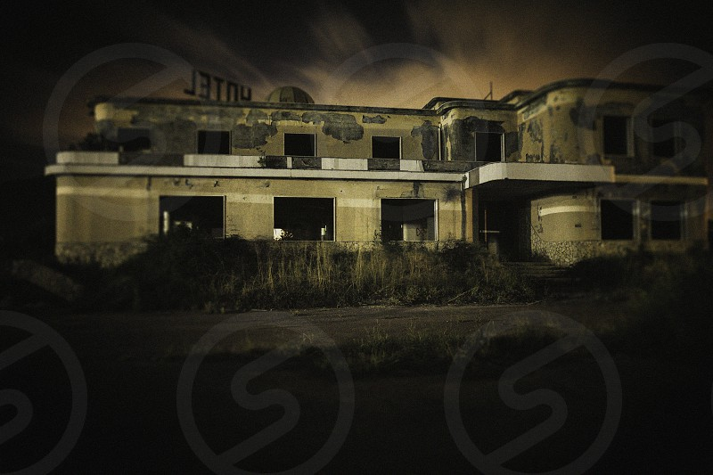 thie is the abandoned hotel in which I've done my last two lightpainting sessions. The place during the night was actually creapy but I had have a lot of fun during the shots. photo