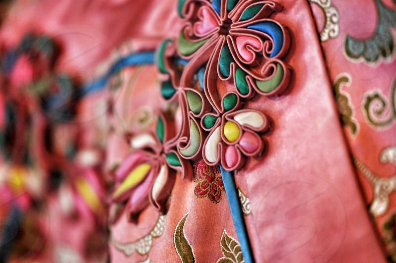 Antique Chinese dress embellishment photo