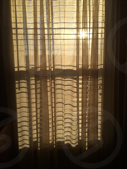 Sunlight curtain shadows  photo