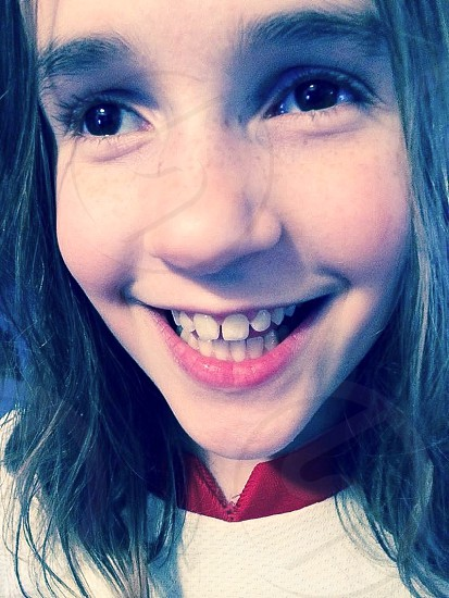 Girl happy fun enjoy smiling photo