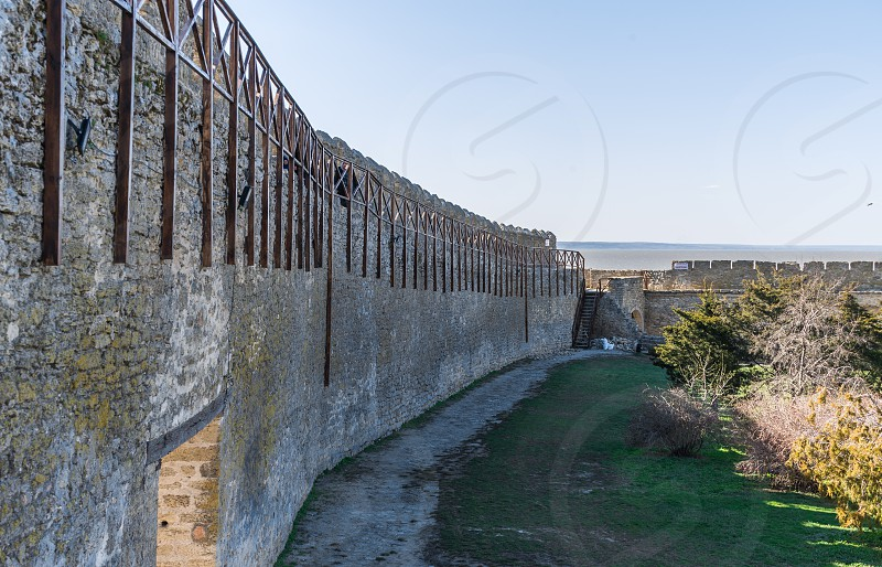 Akkerman Ukraine - 03.23.2019. Panoramic view of the Akkerman Fortress on the right bank of the Dniester estuary  a historical and architectural monument photo