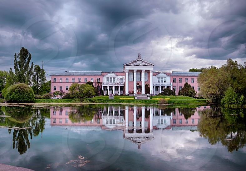 Evening at Botanical garden - Moscow Russia May 2017 photo