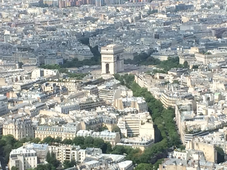 Aerial view from the Eiffel Tower photo