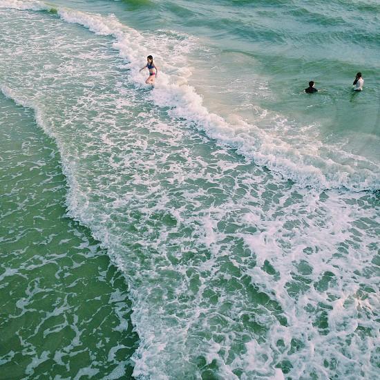 girl in blue bikini photo