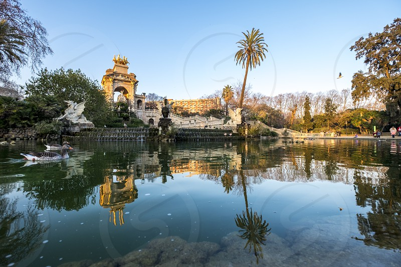 Parc de la Ciutadella Barcelona Catalonia Spain Europe photo
