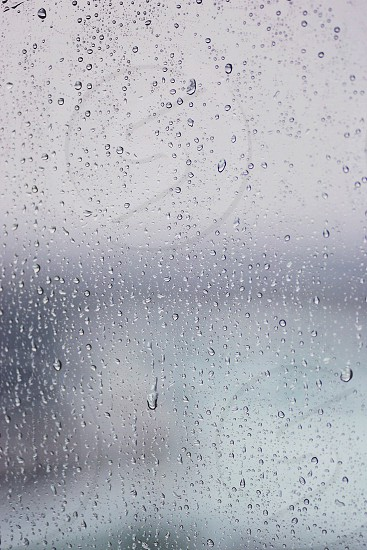 water drops on glass photo