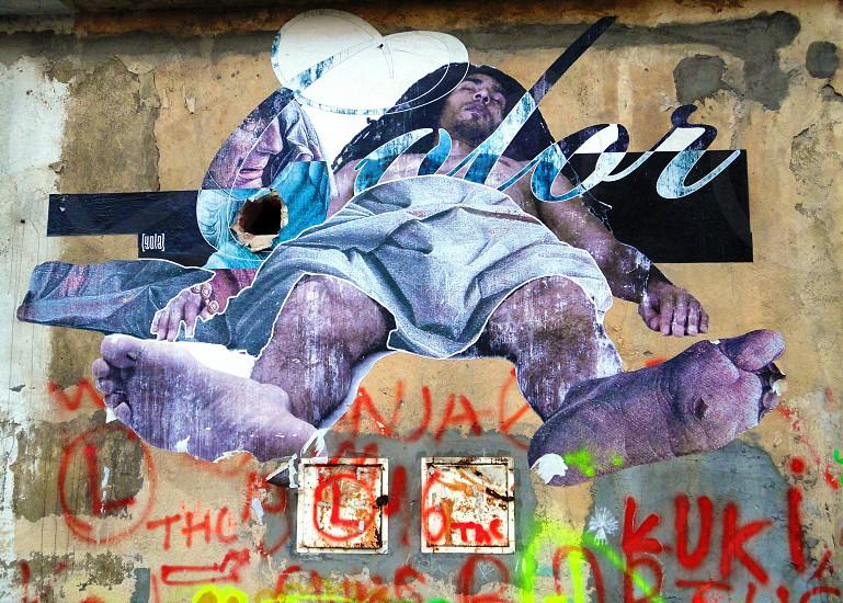 Street art in Warsaw photo