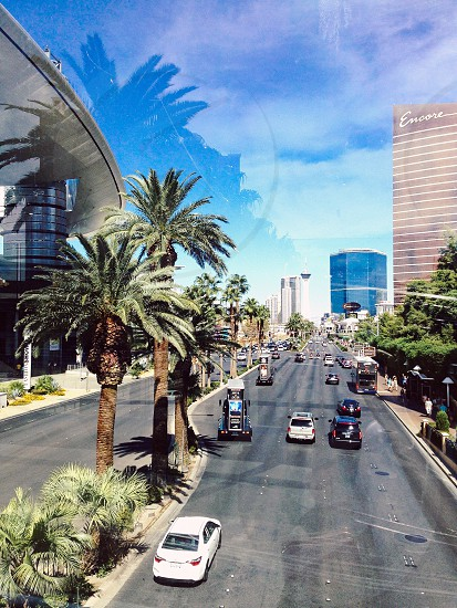 Reflections of Las Vegas.  photo