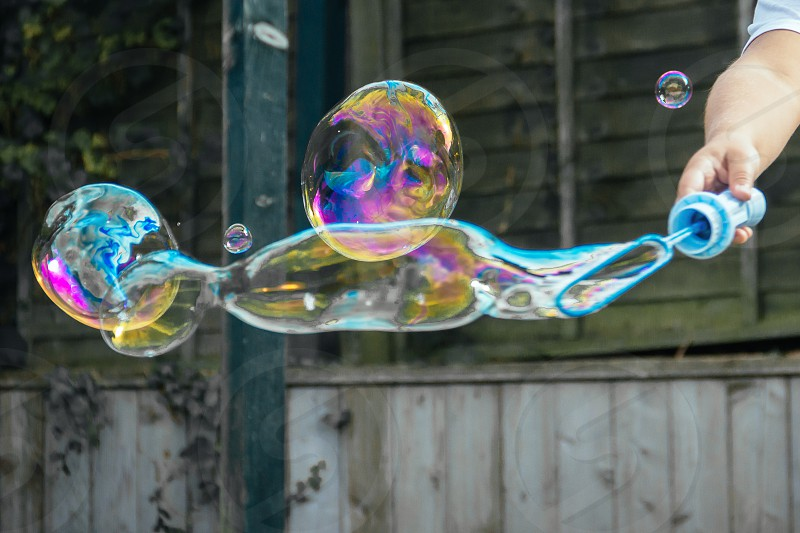 Blowing bubbles photo