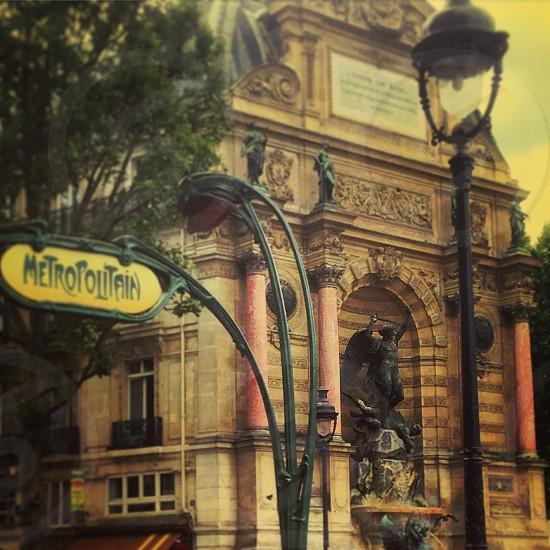 Paris train station Saint Michel art nouveau photo