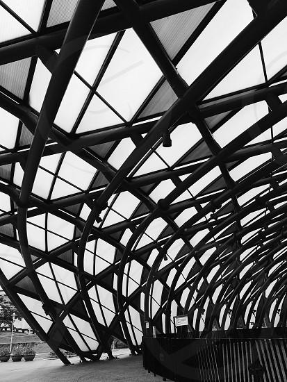 black metal spiral ceiling  photo